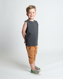 Happy Days Tank - Heather Charcoal