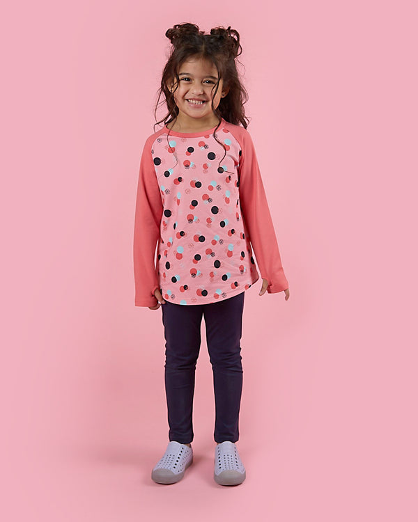 Hide And Seek Tee - Cotton Candy Dots