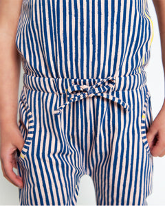 Jump To It Romper - Navy Slinky Stripe