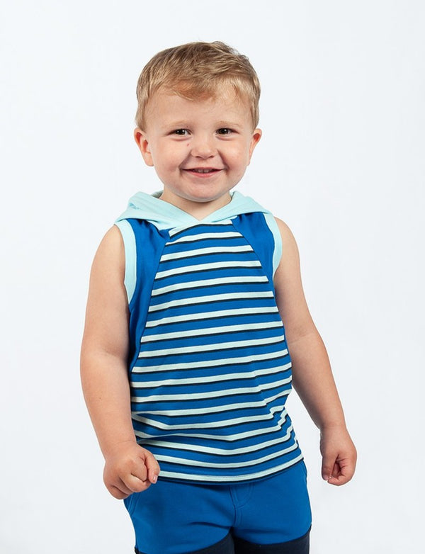 Keep It Cool Tank - Cobalt Stripe