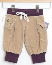 Come & Play Capris - Corduroy Brown - Size 1