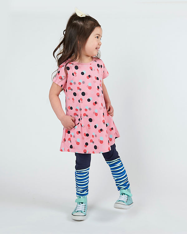 Live To Play Tunic - Cotton Candy Dots