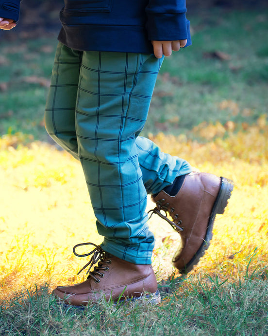 Look'n Fine Pants - Sea Pine Windowpane