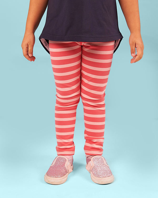 Party Perfect Leggings - Watermelon Punch Stripe