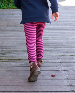 Party Perfect Leggings - Wild Rose Stripe