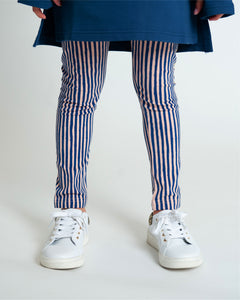 Party Perfect Leggings - Navy Slinky Stripe