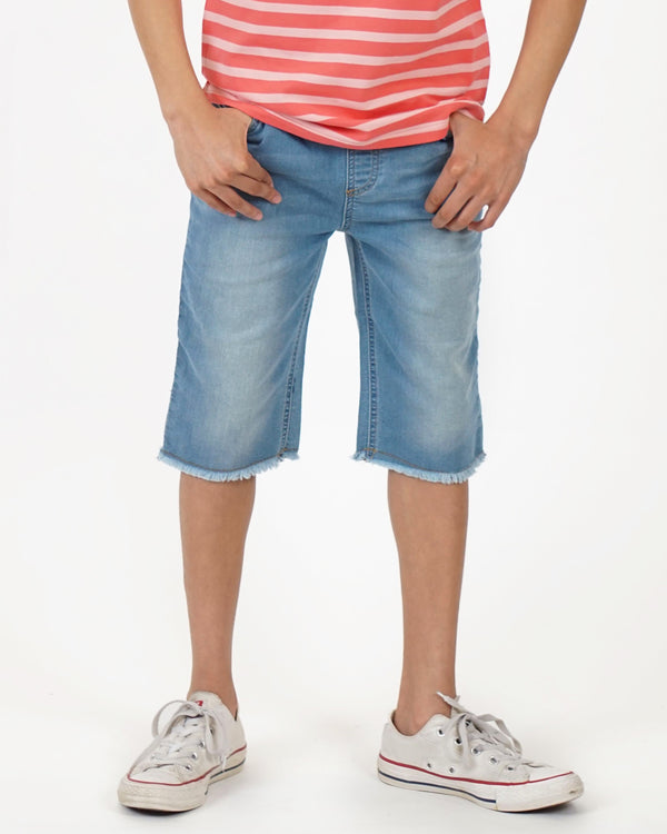 Unisex Sandcastle Shorts - Light Blue Denim