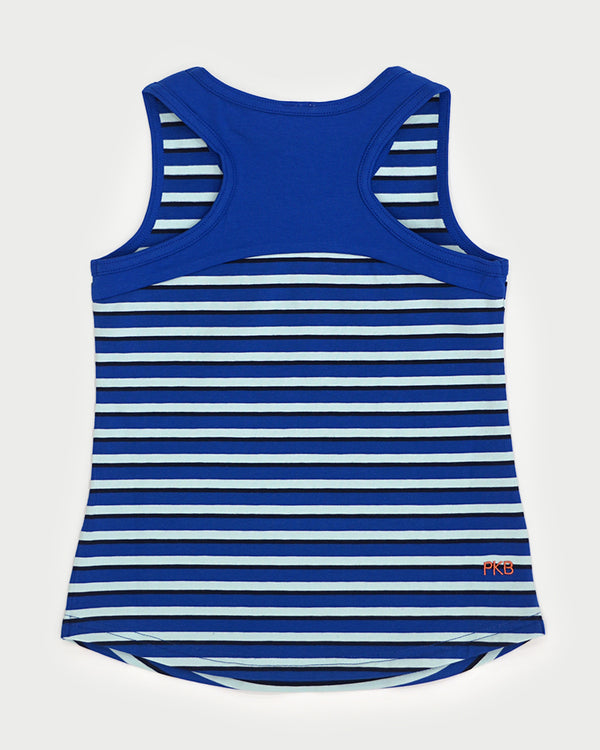 Tides Out Tank - Cobalt Stripe