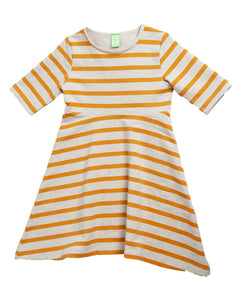 Let's Dance Dress - Sunflower Stripe