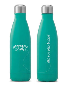 Peekaboo Beans Water Bottle - Turquoise