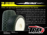 TPRO 1/8 OffRoad MATRIX Racing Tire Pre-Mounted (XR T3 - Soft)(WH)