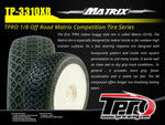 TPRO 1/8 OffRoad MATRIX Racing Tire Pre-Mounted (XR T5- Ultra Soft)(WH)