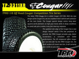 TPRO 1/8 OffRoad COUGAR Racing Tire Pre-Mounted (XR T5- Ultra Soft)(WH)