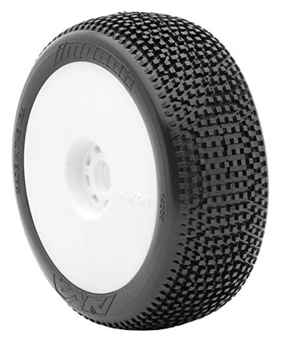 AKA 1:8 BUGGY IMPACT (SUPER SOFT - LONG WEAR) EVO WHEEL PRE-MOUNTED WHITE 14007QRW