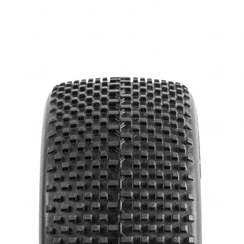 Raw Speed Bite Force - 1/8 Buggy Tires - Pre-Mounted (1 pr) Super Soft