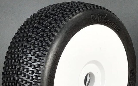Raw Speed Villain - 1/8 Buggy Tires - Pre-Mounted (1 pr) Super Soft