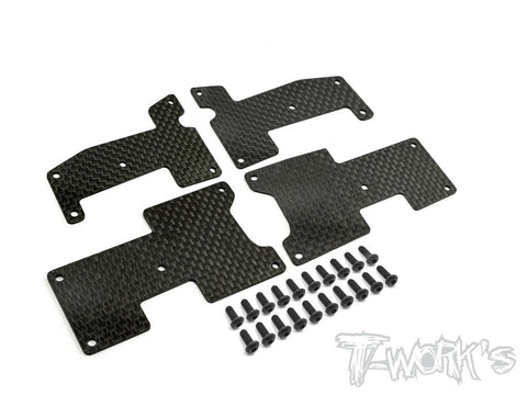 T-Works TO-180-1.2 Graphite A-arm Stiffeners 1.2mm ( For HB Racing D815/RGT8/D817/D817 V2/D819)