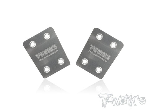 T-Works TO-220-M Stainless Steel Rear Chassis Skid Protector ( Mugen MBX-7 /7R ) 2pcs.