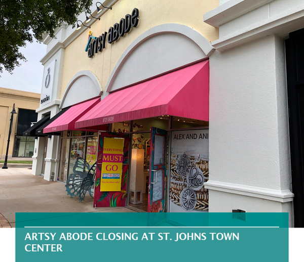 Artsy Abode closing at St. Johns Town Center