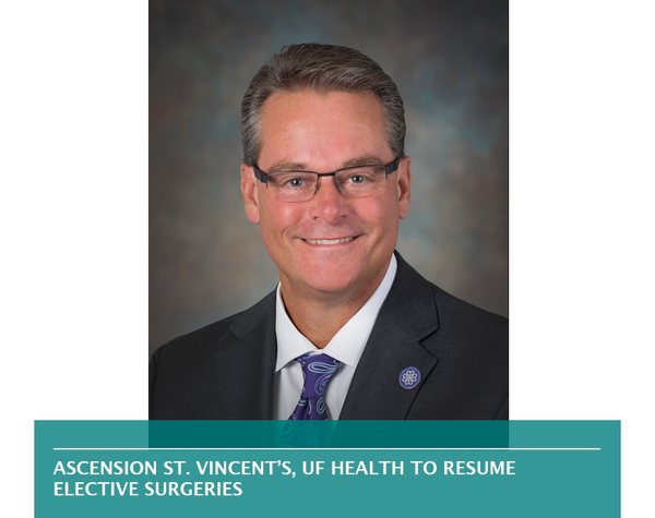 Ascension St. Vincent's, UF Health to resume elective surgeries