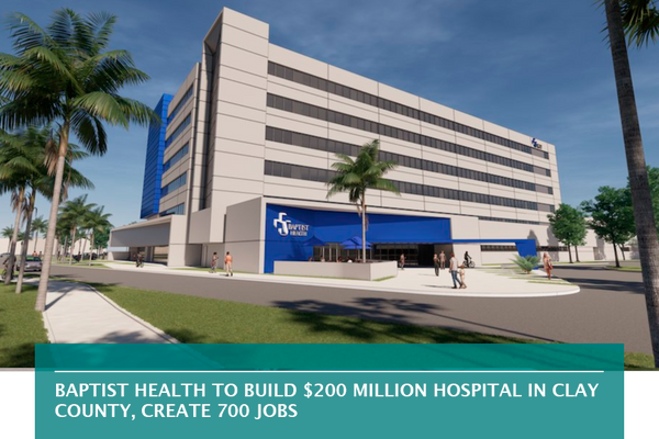 Baptist Health to build $200 million hospital in Clay County, create 700 jobs