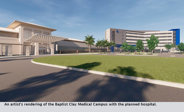 An artist's rendering of the Baptist Clay Medical Campus with the planned hospital.