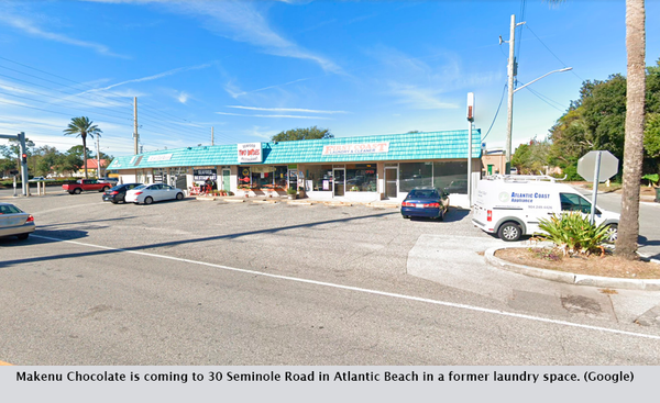 Makenu Chocolate is coming to 30 Seminole Road in Atlantic Beach in a former laundry space. (Google)
