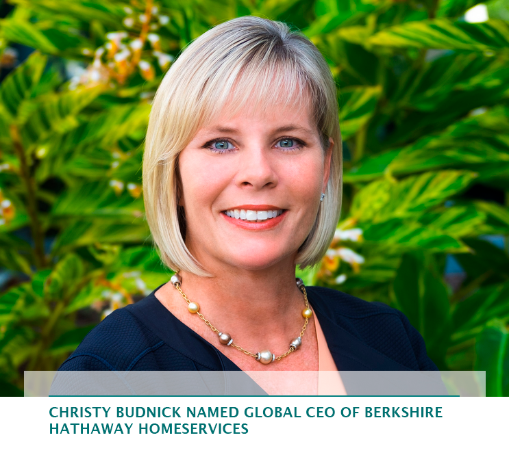 Christy Budnick named global CEO of Berkshire Hathaway HomeServices