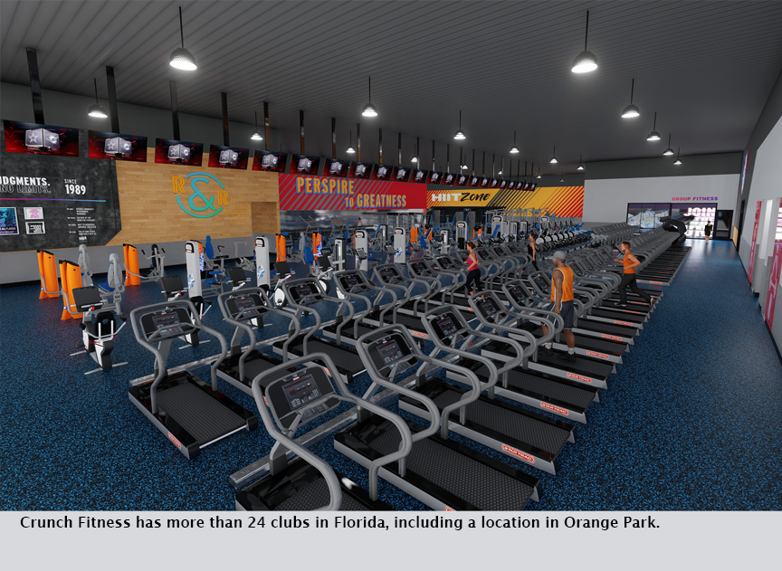 Crunch Fitness has more than 24 clubs in Florida, including a location in Orange Park.