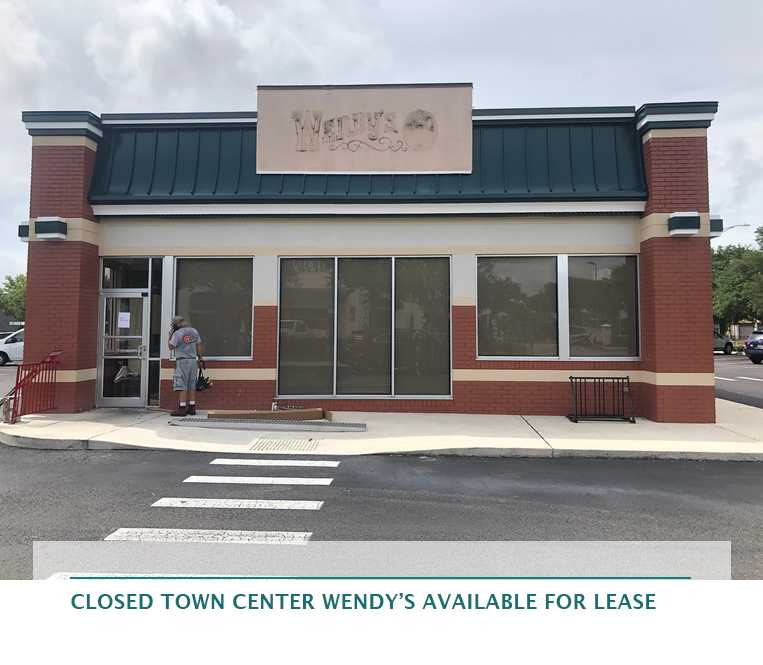 Closed Town Center Wendy's available for lease