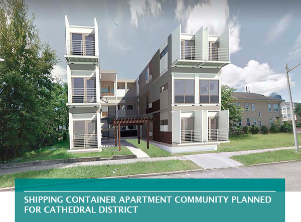 Shipping container apartment community planned for Cathedral District