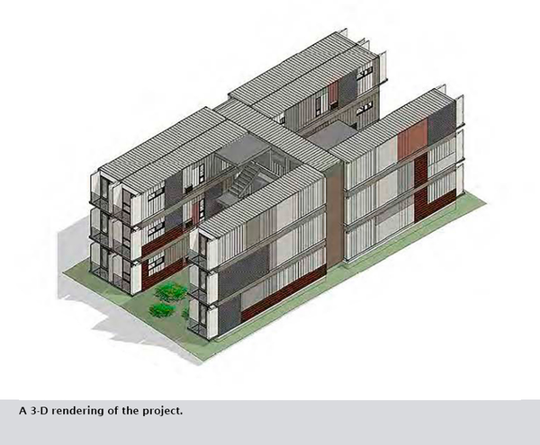 A 3-D rendering of the project.