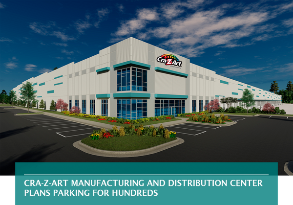 Cra-Z-Art manufacturing and distribution center plans parking for hundreds