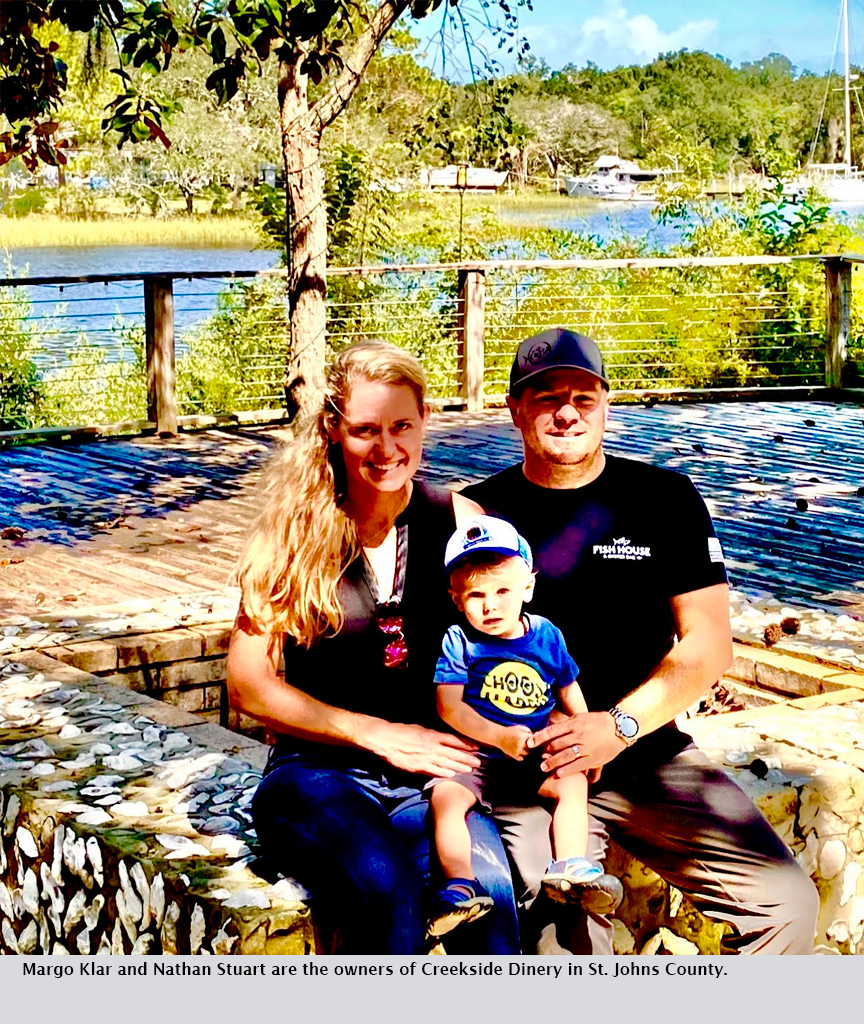 Margo Klar and Nathan Stuart are the owners of Creekside Dinery in St. Johns County.