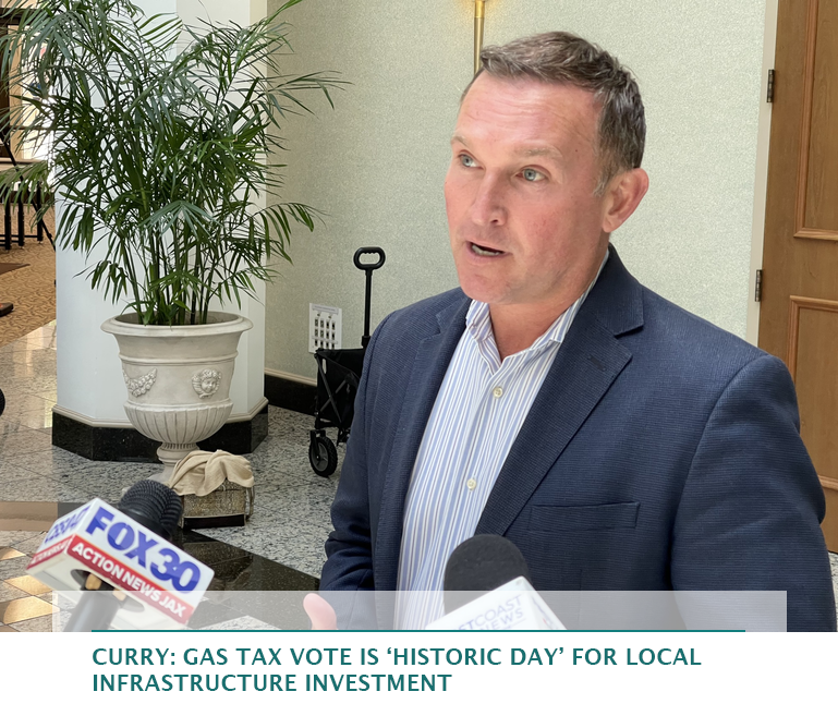 Curry: Gas tax vote is 'historic day' for local infrastructure investment