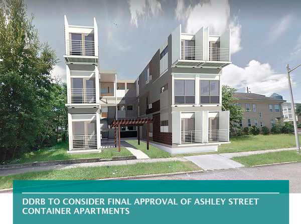 DDRB to consider final approval of Ashley Street container apartments