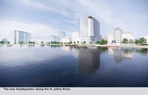 The new headquarters along the St. Johns River.
