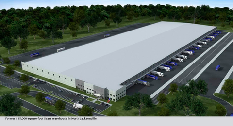Former 815,000-square-foot Sears warehouse in North Jacksonville.
