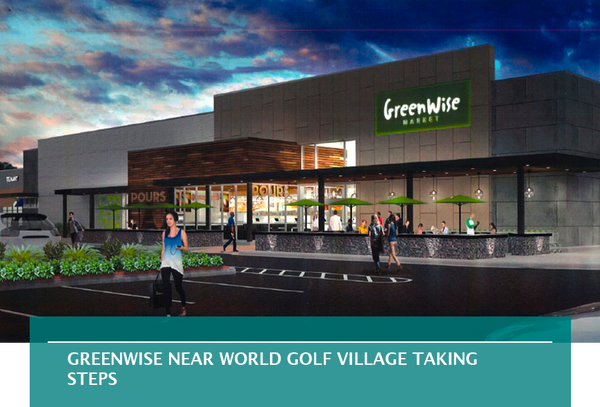 GreenWise near World Golf Village taking steps
