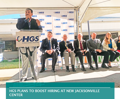 HGS PLANS TO BOOST HIRING AT NEW JACKSONVILLE CENTER