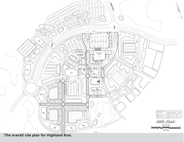 The overall site plan for Highland Row.