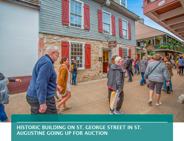 Historic building on St. George Street in St. Augustine going up for auction