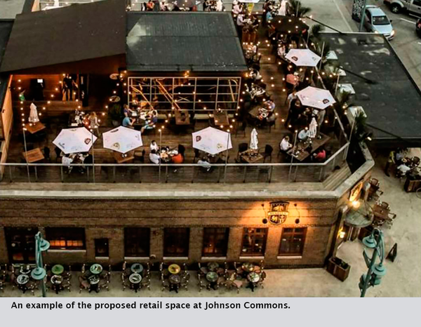 An example of the proposed retail space at Johnson Commons.