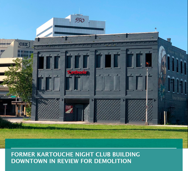 Former Kartouche Night Club building Downtown in review for demolition