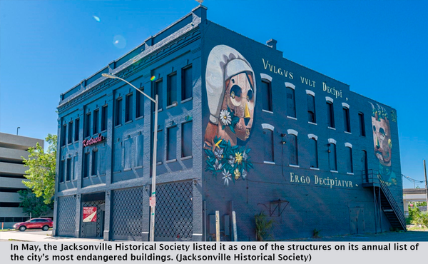 In May, the Jacksonville Historical Society listed it as one of the structures on its annual list of the city's most endangered buildings. (Jacksonville Historical Society)