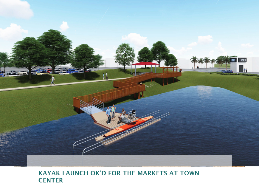 Kayak launch OK'd for The Markets at Town Center