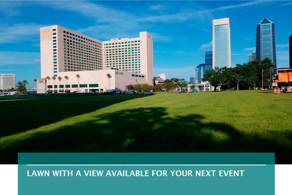 Lawn with a view available for your next event