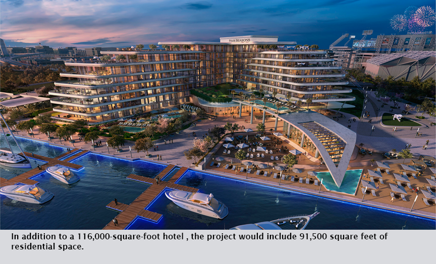 In addition to a 116,000-square-foot hotel , the project would include 91,500 square feet of residential space.