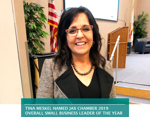 TINA MESKEL NAMED JAX CHAMBER 2019 OVERALL SMALL BUSINESS LEADER OF THE YEAR