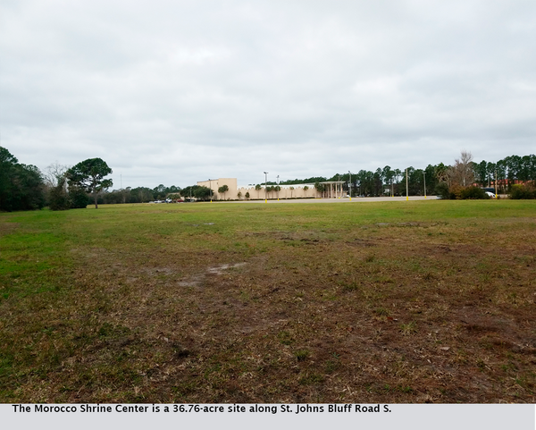 The Morocco Shrine Center is a 36.76-acre site along St. Johns Bluff Road S.